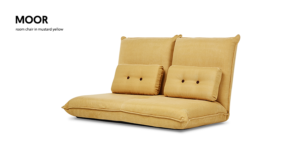 Aj2 Small Mustard Yellow Double Sofa And Room Chair